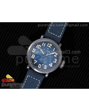 Pilot Type 20 Extra Special 40mm Aged SS Case V6F 1:1 Best Edition on Asso Strap MIYOTA 9015 (Blue)