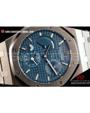 Audemars Piguet Royal Oak Dual Time Chronograph Asia Auto Blue Dial SS/SS