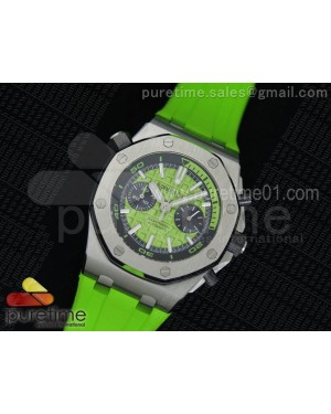 Royal Oak Offshore Diver Chronograph Green Dial on Green Rubber Strap A3126
