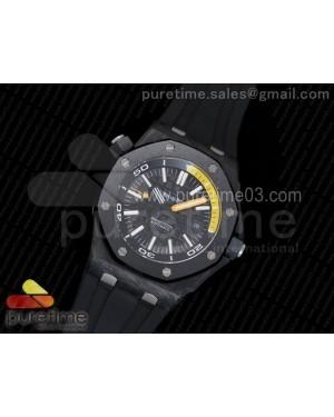 Royal Oak Offshore Diver Lite PVD Black/Yellow Dial on Black Rubber Strap A3120