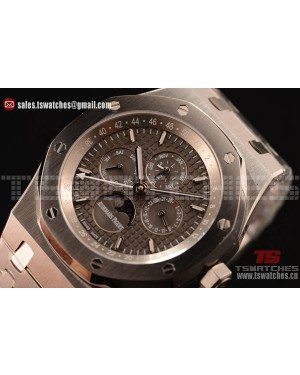 Audemars Piguet Royal Oak Perpetual Calendar Asia Automatic Steel Case with Grey Dial and Steel Bracelet
