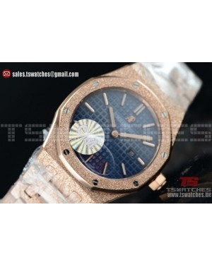 Audemars Piguet Royal Oak Quartz Blue Dial 67650OR.OO.1261OR.01BL (EF)
