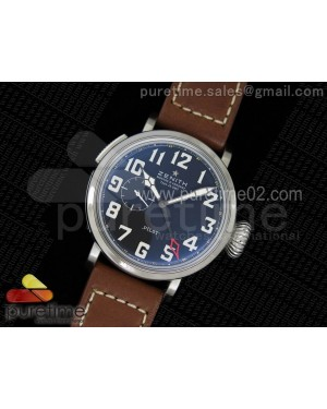 Pilot Type 20 GMT SS Black Dial on Brown Leather Strap A23J