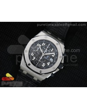 Royal Oak Offshore Black Themes JF Best Edition on Black Leather Strap A7750