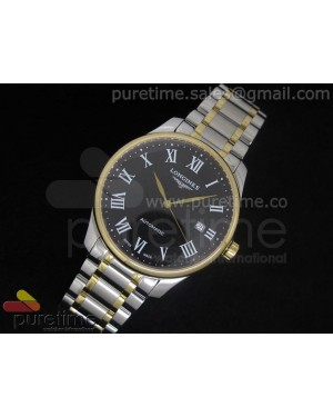 Master Automatic SS/YG Black Dial Roman Markers on Bracelet A2824