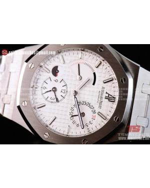 Audemars Piguet Royal Oak Double Time Chronograph Asia Auto White Dial SS/SS