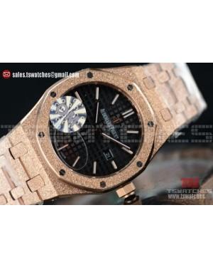 Audemars Piguet Royal Oak Quartz Black Dial 67653OR.GG.1263OR.01GR (EF)