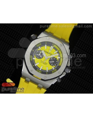 Royal Oak Offshore Diver Chronograph Yellow JF 1:1 Best Edition on Yellow Rubber Strap A3126 V2 (Free XS Strap)