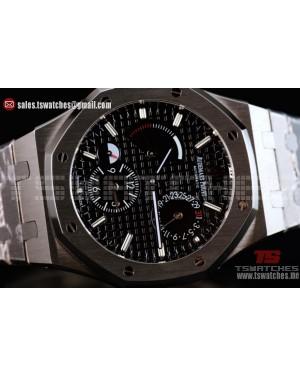 Audemars Piguet Royal Oak Double Time Chronograph Asia Auto Black Dial SS/SS