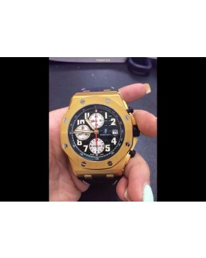 AP16523 - Royal Oak Offshore JF Full Gold Green Leather Strap A7750