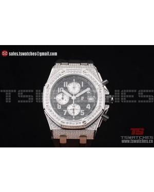 Audemars Piguet Royal Oak Offshore Chrono Seiko VK67 Quartz SS/RU Black Dial
