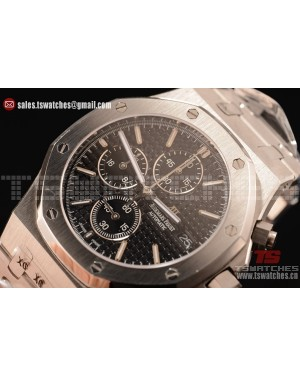 Audemars Piguet Royal Oak Chronograph Miyota OS10 Quartz Black Dial SS/SS