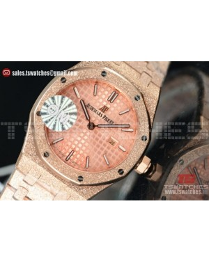Audemars Piguet Royal Oak Quartz Pink Dial 67653OR.GG.1263OR.02 (EF)