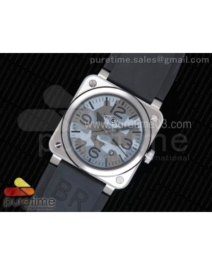 BR 03-92 Steel 1:1 Best Edition Camouflage Dial on Black Rubber Strap MIYOTA 9015 V3