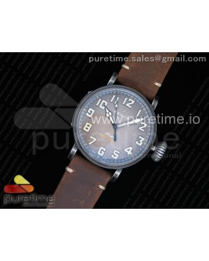 Pilot Type 20 Extra Special 45mm Aged SS Case V6F 1:1 Best Edition Brown Dial on Assolumate Strap A2824
