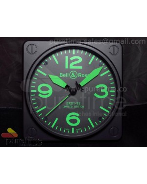 Bell & Ross BR01-92 Limited edition Wall Clock (Green)