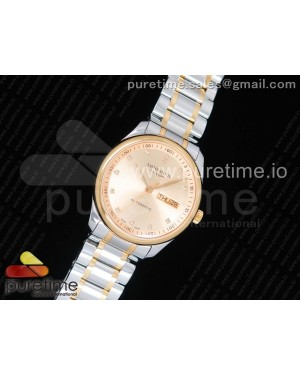 Master Day Date SS/YG LGF 1:1 Best Edition YG Dial on SS/YG Bracelet A2836