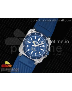 BR 03-92 Diver SS OXF 1:1 Best Edition Blue Dial on Rubber Strap MIYOTA 9015 (Free Leather)