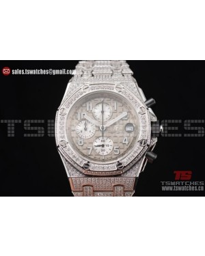 Audemars Piguet Royal Oak Offshore Chrono Seiko VK67 Quartz SS/Diam Grey Dial