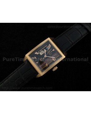 Port Royal Open Anniversary Rose Gold Black Dial