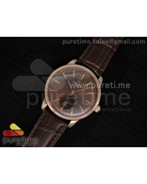 Elite Captain RG Brown Dial on Brown Leather Strap A2824