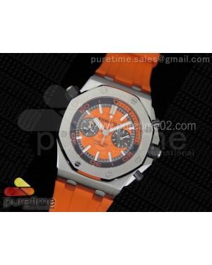 Royal Oak Offshore Diver Chronograph Orange Noob Best Edition on Orange Rubber Strap A3126