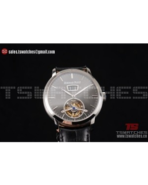 Audemars Piguet Jules Audemars Tourbillon Swiss Tourbillon Manual Winding SS/LT Black Dial (FT)