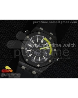 Royal Oak Offshore Diver Forged Carbon 1:1 V6F Best Edition on Rubber Strap A2824 (Free Extra Rubber Strap)