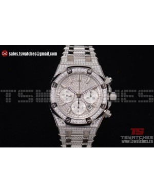 Audemars Piguet Royal Oak Chronograph Diamonds Dial SS/SS - 7750 Auto (EF)