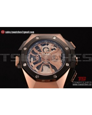 Audemars Piguet Royal Oak Concept Laptimer Michael Schumacher Limited Edition Skeleton Dial RG/RU - Japan Quartz
