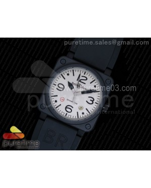 BR 03-92 PVD Gray Dial on Black Rubber Strap MIYOTA 9015