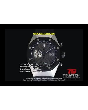 AU17306 - Tourbillon Concept GMT Black Dial SS RU Japan Quartz