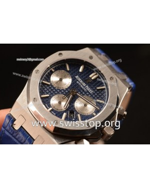Royal Oak Chronograph Blue Dial With Blue Strap Swiss Valjoux 7750 26331ST.OO.1220ST.01