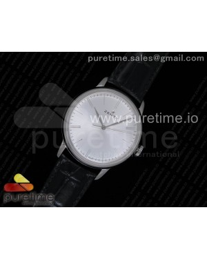 Elite Classic 42 SS Silver Dial on Black Leather Strap MIYOTA 9015