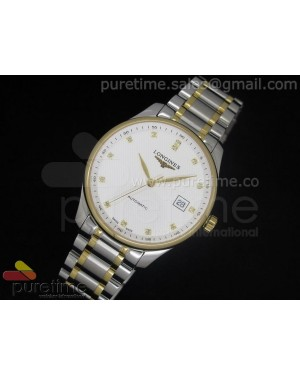 Master Automatic SS/YG White Dial Diamond Markers on Bracelet A2824