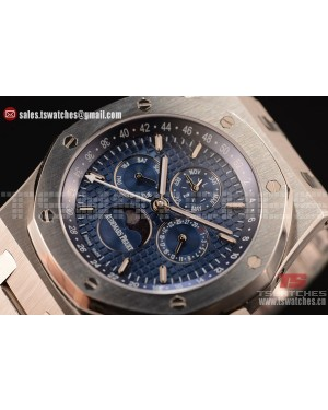 Audemars Piguet Royal Oak Perpetual Calendar Asia Automatic Steel Case with Blue Dial and Steel Bracelet