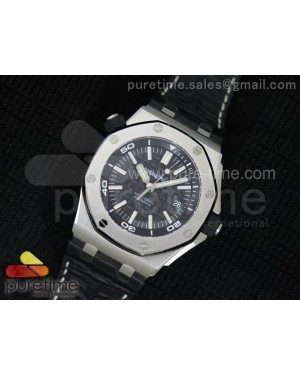 Royal Oak Offshore Diver 1:1 V7 JF Best Edition on Black Leather Strap A2824