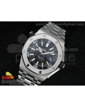 Royal Oak Offshore Diver JF V7 Black Dial on SS Bracelet A2824