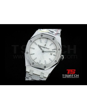 AP15758 - Lady Royal Oak 33MM SS White Dial Swiss Quartz
