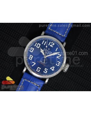 Pilot Type 20 SS Blue Dial on Blue Leather Strap A23J