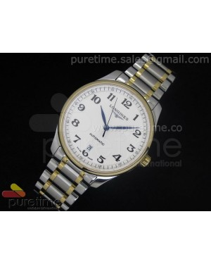 Master Automatic SS/YG White Dial 1 Numeral Markers on Bracelet A2824