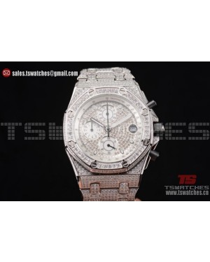 Audemars Piguet Royal Oak Offshore Chrono Seiko VK67 Quartz SS/Diam Diamonds Dial