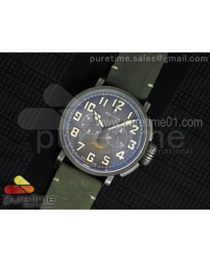 Heritage Pilot Ton-up Aged SS Case V6F 1:1 Best Edition on Green Nubuck Strap A7750
