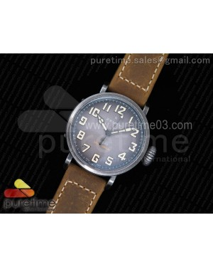 Pilot Type 20 Extra Special 40mm Aged SS Case V6F 1:1 Best Edition on Asso Strap MIYOTA 9015 (Brown)
