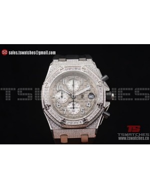 Audemars Piguet Royal Oak Offshore Chrono Seiko VK67 Quartz SS/RU Grey Dial