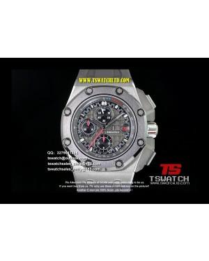 AU17383 - Royal Oak Offshore 44mm Titanium Michael Schumacher 1:1 JF Best Edition A3126...