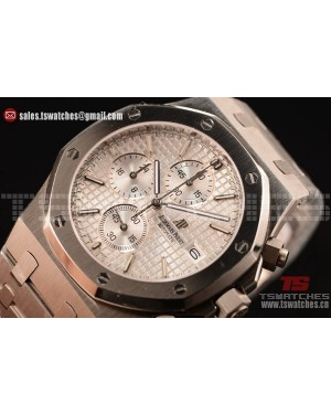 Audemars Piguet Royal Oak Chronograph Miyota OS10 Quartz White Dial SS/SS