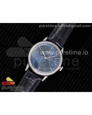 Elite Classic 42 SS Blue Dial on Black Leather Strap MIYOTA 9015