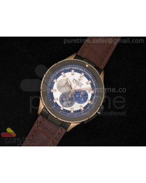Stole Toss Flyback Chrono RG White Dial on Brown Leather Strap JAP Quartz