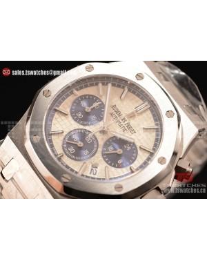 Audemars Piguet Royal Oak Chronograph Miyota OS20 Quartz White Dial SS/SS